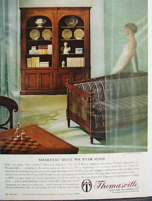 Thomasville Furniture Smartest Move Ad 1964