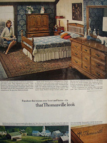 Thomasville Furniture Warms Your Heart Ad 1967