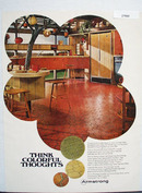 Armstrong Floors Think Colorful Thoughts Ad 1968