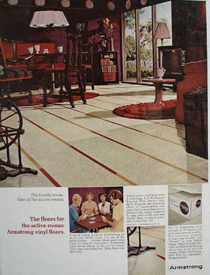 Armstrong Floors For The Family Room Ad 1966