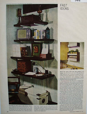 Fast Ideas Cornerful Shelf Space Ad 1965