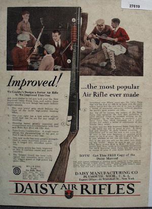 Daisy Air Rifles Most Popular Ad 1930