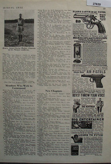 Johnson Smith Co Blank Cartridge Pistol Ad 1932