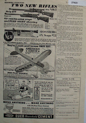 Mossberg Rifle Combination Scope Ad 1935