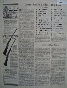 Stevens Shot Guns Man Hunting With Dog Ad 1926