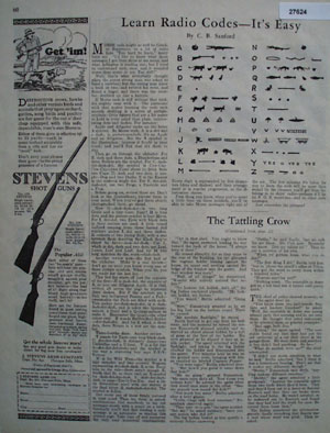 Stevens Shot Guns Man Hunting With Dog Ad 1926