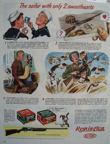 Remington Sailor With Only Two Sweethearts Ad 1944