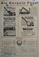 Sincere Co Big Bargain Page Ad 1927