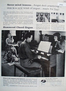 Hammond Chord Organ Never Mind Lessons Ad 1957