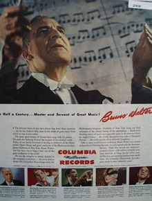 Columbia Records Bruno Walter Conductor Ad 1944