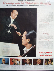 Columbia Records And Eugene Ormandy Ad 1945