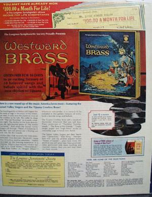 Longines Symphonette Westward Brass Album Ad 1969