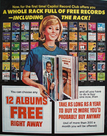 Capitol Records.12 Albums Free Right Away Ad 1967