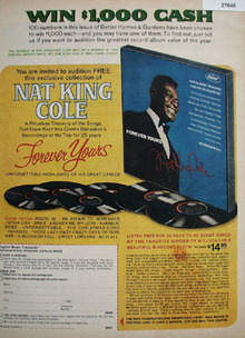 Capitol Music Nat King Cole Album Ad 1968