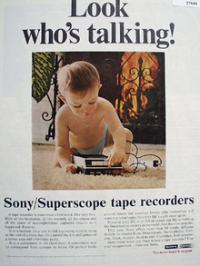 Sony Look Who Is Talking Ad 1969