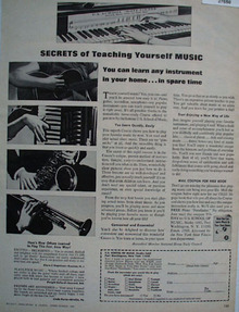 U S School Of Music Secrets Teaching Music Ad 1968