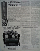 Wurlitzer Pianos More People Buy Ad 1964