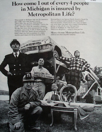 Metropolitan Life More People Choose Ad 1964