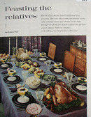Feasting The Relatives Table Setting Picture 1961