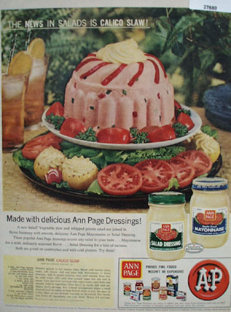 A And P Calico Slaw Ad 1958
