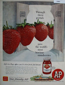 A And P Strawberry Preserves Ad 1960