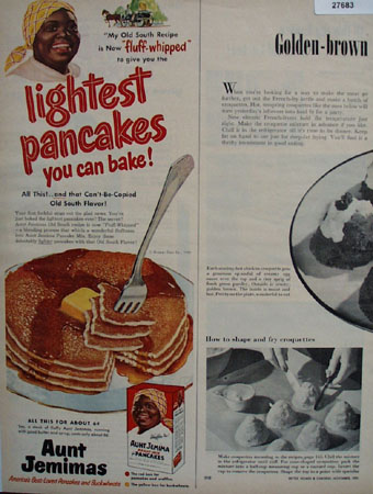 Aunt Jemima Fluff Whipped Ad 1951