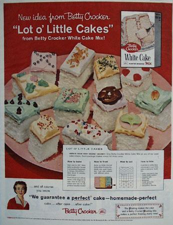 Betty Crocker Lot O Little Cakes Ad 1959