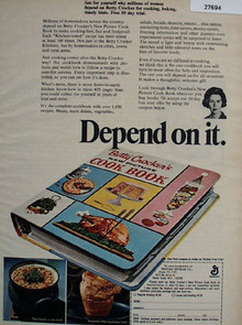 Betty Crocker Cook Book Depend On It Ad 1967