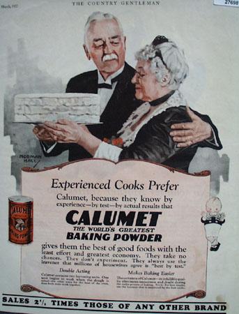Calumet Baking Powder Cooks Prefer Ad 1927