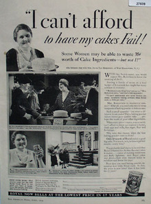Royal Baking Powder Cakes Dont Fail Ad 1934
