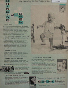 Gerber Baby Foods Hints By Mrs. Dan Gerber Ad 1958