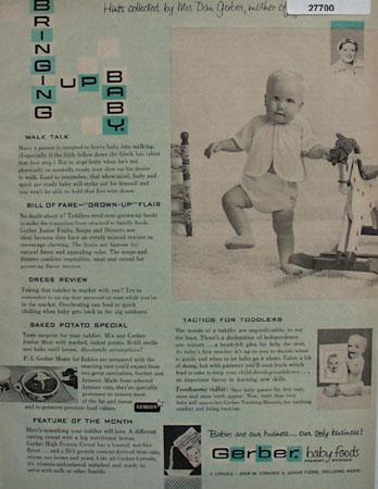 Gerber Baby Foods Hints By Mrs. Dan Gerber Ad 1958