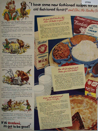 Bordens New Fashioned Recipes Ad 1951