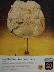 Lady Borden Surprise Butter Toffee Ice Cream Ad 1959
