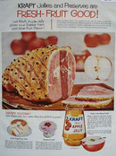Kraft Foods Fresh Fruit Good Jelly Easter Ad 1959