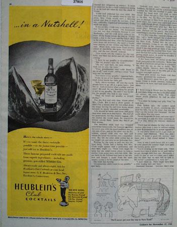 Heubleins In A Nutshell Ad 1945