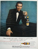 Heublein Cocktails and Star Michael Rennie Ad 1964