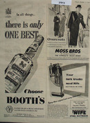 Booths Gin There Is Only One Best Ad 1952