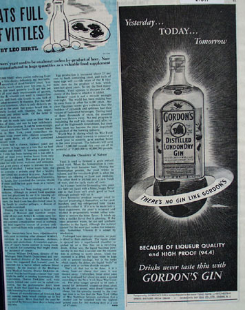Gordons gin Yesterday Today Tomorrow Ad 1945