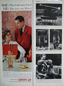 Gordons Gin Book Says 3 to 1 Ad 1960