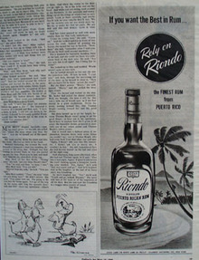 Riondo Puerto Rico Rum If You Want The Best Ad 1945