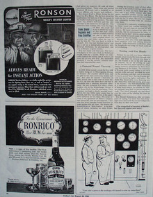Ronrico Rum For The Connoisseur Ad 1945
