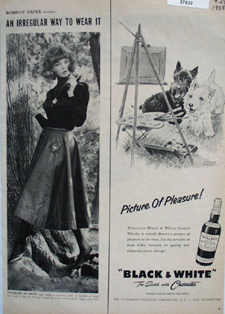 Black And White Picture of Pleasure Ad 1958