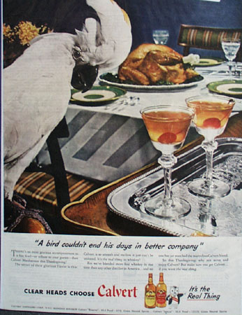 Calvert Thanksgiving Ad 1945