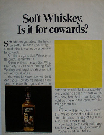 Calvert Soft Drink Is It For Cowards Ad 1966