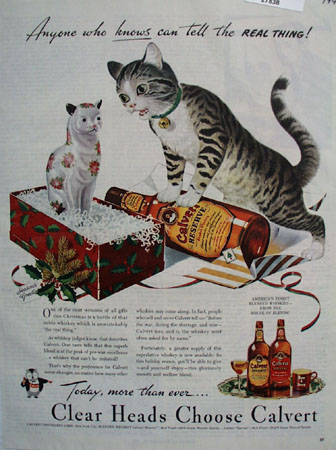Calvert Whiskey Christmas Ad 1944