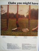 Canadian Mist Whiskey And Golf Clubs Ad 1966