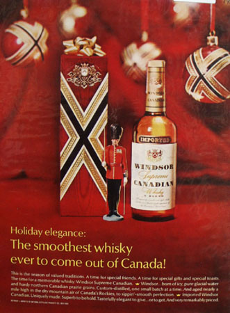 Windsor Canadian Whiskey Christmas Ad 1968
