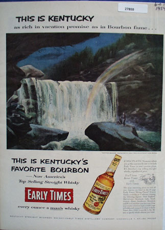 Early Times This Is Kentucky Ad 1954