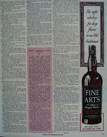 Fine Arts Whisky For Deep Flavor Ad 1944